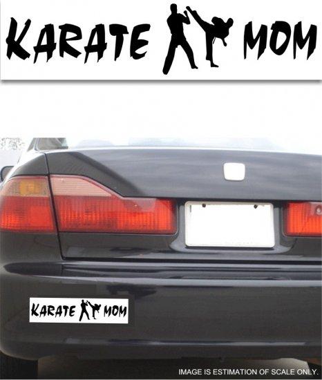 Karate Mom - White Bumper Sticker