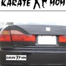 Karate Mom - White Bumper Sticker