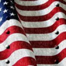 American Flag 2 w/ Rivets - Truck Window Perf