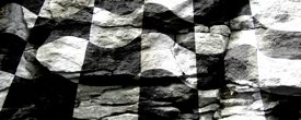 Racing Flag w/ Rock - Truck Window Perf