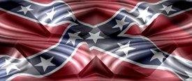 Rebel Flag w/ Chrome - Truck Window Perf