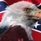 Rebel Flag w/ Eagle - Truck Window Perf