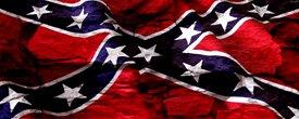Rebel Flag w/ Rock - Truck Window Perf