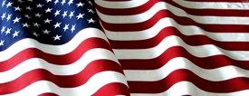 American Flag 2 - Car Window Perf