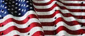 American Flag 2 w/ Rivets - SUV Window Perf