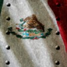 Mexican Flag w/ Rivets - Car Window Perf