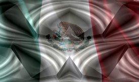 Mexican Flag w/ Chrome - Car Window Perf