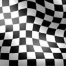 Racing Flag, Tight Squares - Car Window Perf
