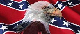 Rebel Flag w/ Eagle