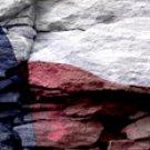 Texas Flag w/ Rock - Car Window Perf