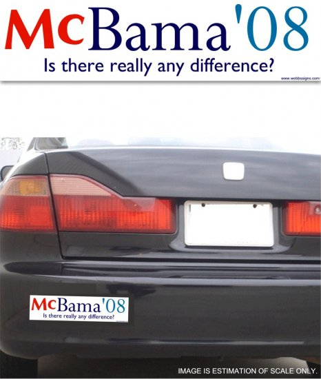 McBama '08 Difference - Bumper Sticker