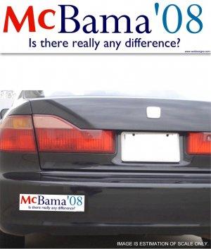McBama '08 Difference - Bumper Sticker