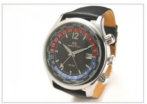 Marco Polo World Time Watch Black Dial Swiss Quartz