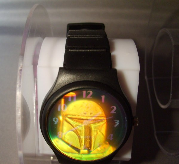 Star Wars Boba Fett Original Version 3D Arts Hologram Watch HTF MINT