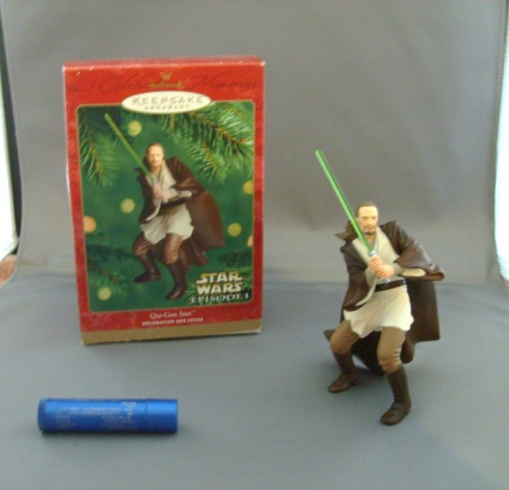 Star Wars Qui Gon Jinn Hallmark Xmas Christmas Tree Ornament MNMB