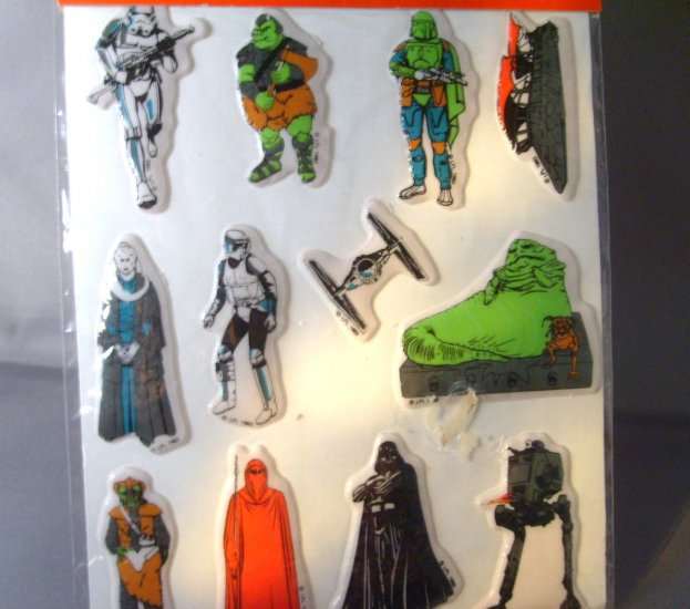 Star Wars Return of the Jedi  ROTJ Vintage 3D Puffy Stickers