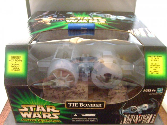 Star Wars Power of the Jedi POTJ w/pilot Electronic Tie Bomber Ship MNMB