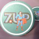 Superman Super man Hero set of 4 7up seven up 1970's drink coasters