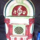 Juke Box Ceramic Cookie Jar Storage Container MINT