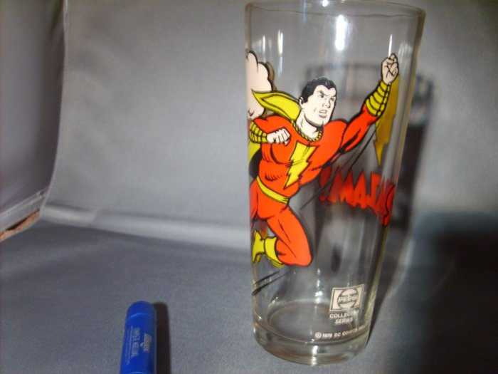 Shazam 1978 DC comics Pepsi Collector Series Super Hero Glass