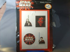 Star Wars Episode 1 Party Favor Tattoos
