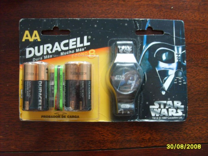 Star Wars Darth Vader Mexico Duracell Battery Special Edition Watch