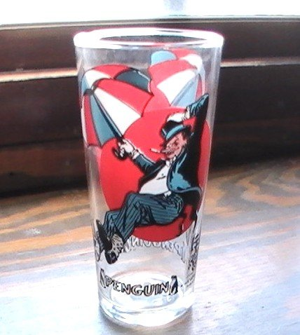 Super Villain Penguin 1976 MOON Super Series N P P Pepsi Glass