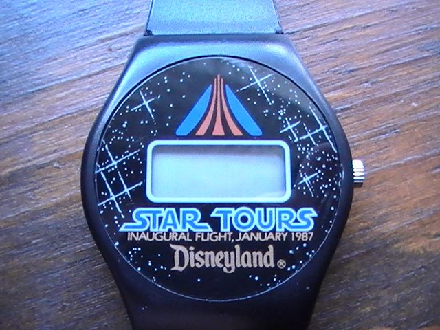 Star Wars Disney Land Star Tours 1986 LCD Watch