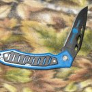 "Black Squall Blue Tactical Chipaway Cutlery 4 1/2 "" Closed Collectible Collector Knife"