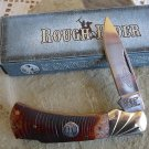 "Rough Rider Mustang Saw Cut Bone Lockblade 3 3/4 "" Closed Collectible Collector Pocket Knife"