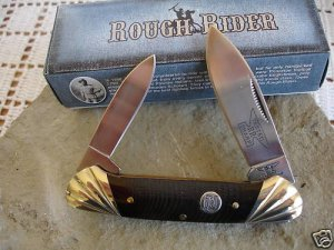 "Rough Rider Canoe Saw Cut Bone 3 3/4 "" Closed Collectible Collector Pocket Knife"