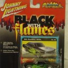 Johnny Lightning 1966 Pontiac GTO Black With Flames Die Cast Car