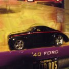 Jada D-Rods D Rods Black 1940 Custom Ford Hotrod Die Cast Car