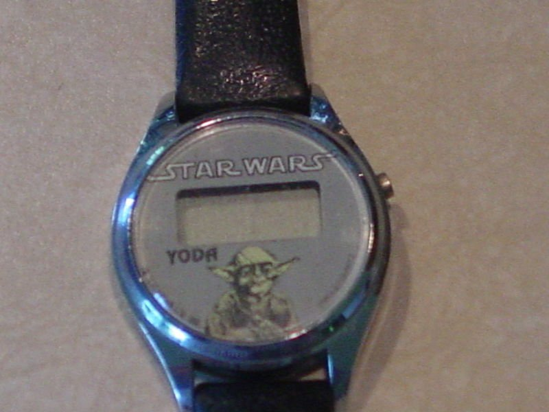Star Wars Vintage LCD Yoda Bradley Watch 2! ROTJ See Pics Tested!