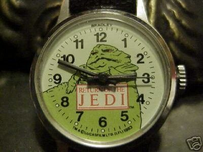 Star Wars Jabba the Hutt Bradley Windup Watch