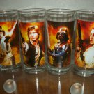 Star Wars 4 Set 10ounce Heavy Drinking Glasses Luke,Han,Vader,Leia VHTF