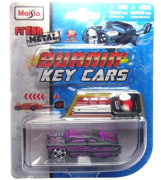 Maisto Burning Key Car Purple Street Sled HTF Die Cast