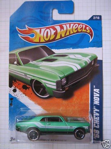 Hotwheels Hot wheels 68 1968 Green Chevy Nova Die Cast Car
