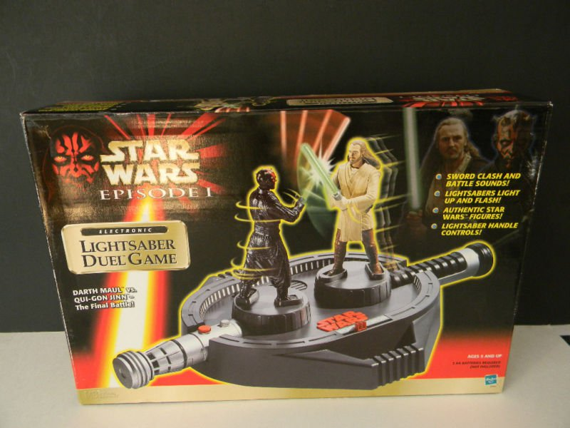 Star Wars Ep1 Electronic Lightsaber Duel Game Fight As Qui Gon Jinn/Darth Maul