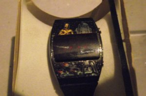 Star Wars Darth Vader R2D2 C3PO TI Watch LED Rare Black version Color Ships READ