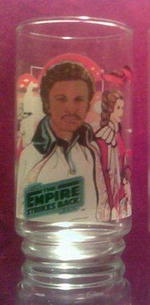 Star Wars Lando ESB Button Bottom Thin Decal Bk Glass HTF HOLY GRAIL