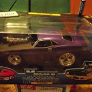 Muscle Machines 1970 Purple Cuda 1 18 Diecast Car Real Steel Braided Fuel Lines