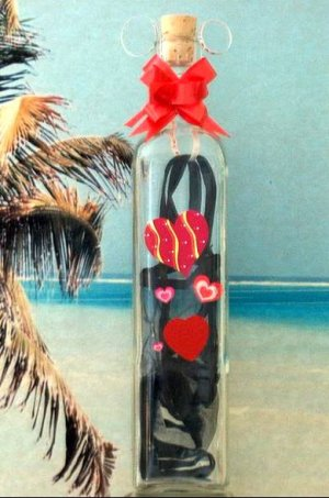 Mesage In A Bottle With a Love Poem and Sexy G-string