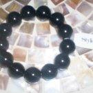 *~NWT Style & Co Black Jet Beaded Bracelet -FREE Ship