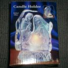 *~NEW Beautiful Nativity Jesus Birth Etched Glass Candle Holder