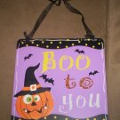 *~SALE!*~NEW Halloween 'Boo to You' sign-Plaque-FREE SHIP