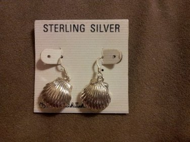 *~New Sterling Silver Sea Shell Earrings