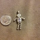 *~Vintage Sterling Silver Light Purple Birthstone boy Charm/pendant