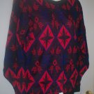 "*~NWT Vintage ""Alexander's"" Multi color sweater L/s sz S-M"