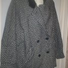 *~GC Vintage Estate Tweed Wool and Leather Coat sz L